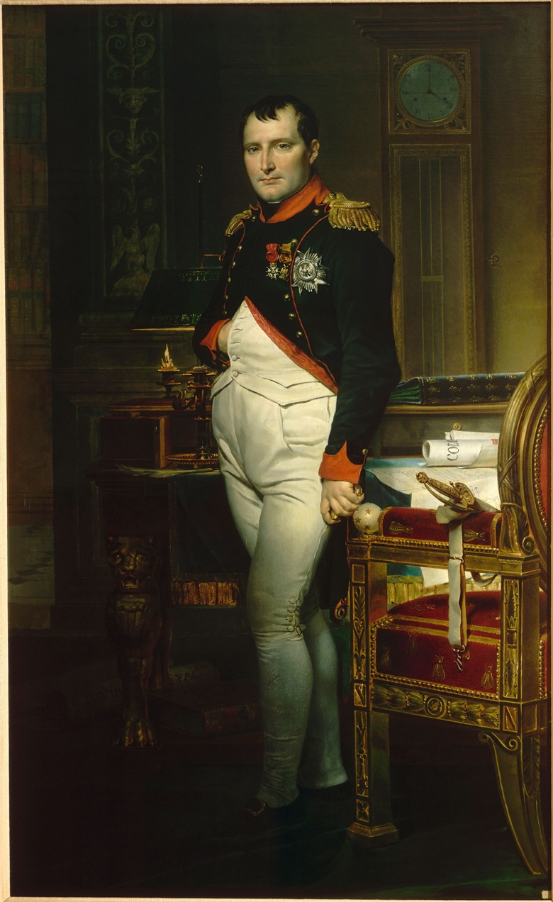 Jacques Louis David, L'Empereur dans son cabinet de travail aux Tuileries, 1812. Collection particulière. Photo © RMN-Grand Palais  Gérard Blot