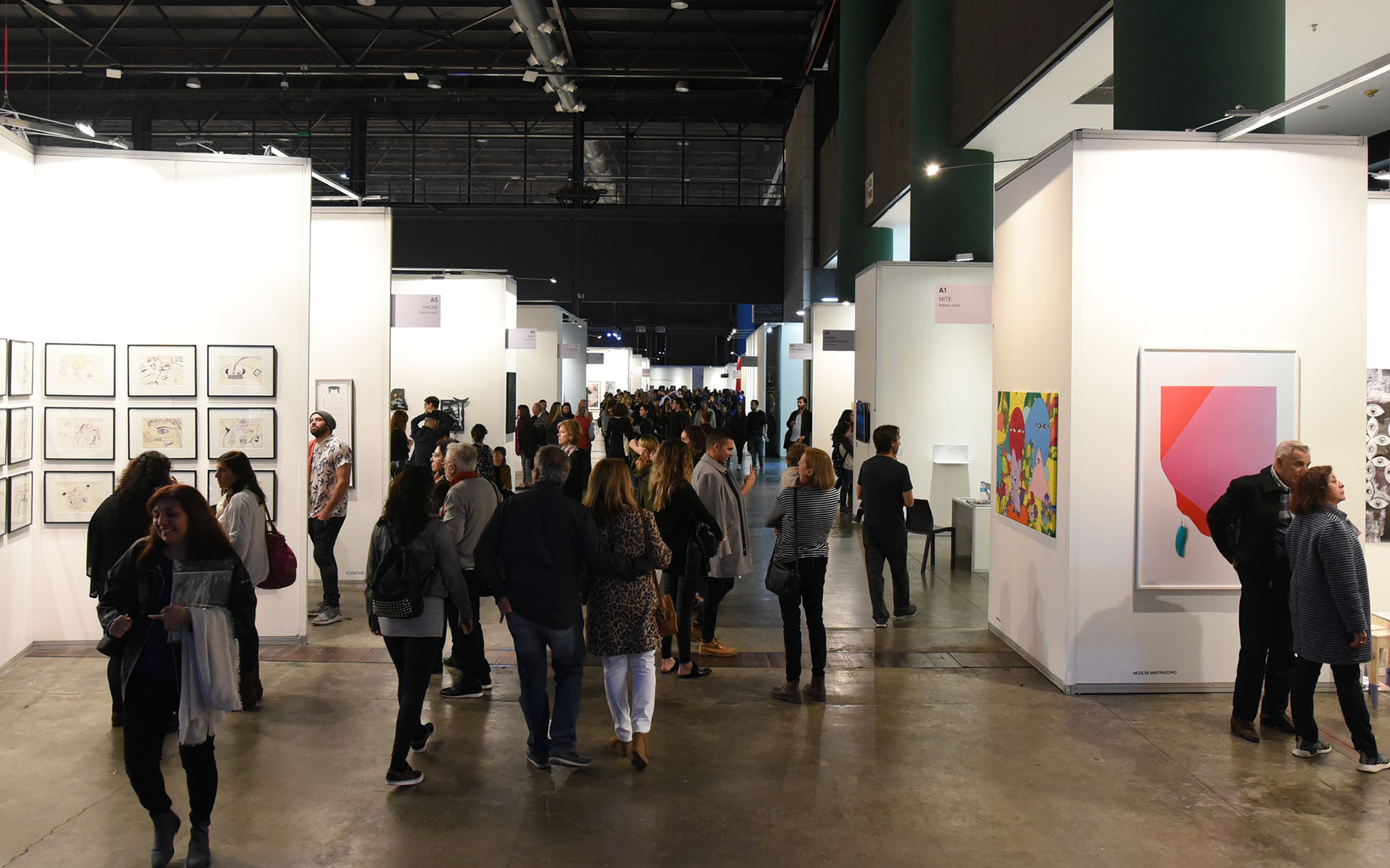 A view of the 2018 arteBA contemporary art fair, in Buenos Aires. Photo courtesy of arteBA Fundación