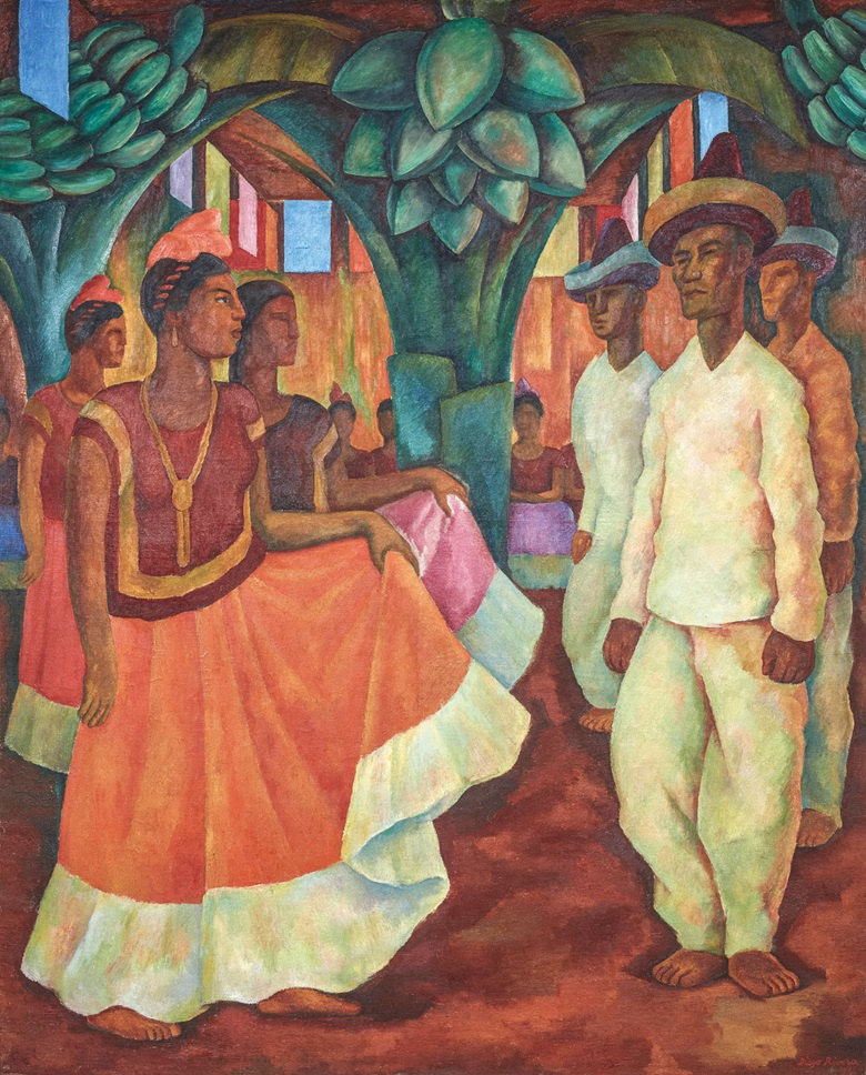 Diego Rivera, Dance in Tehuantepec, 1928. Photo Courtesy of Colección Malba. © Banco de México Diego Rivera Frida Kahlo Museums Trust, Mexico, D.F.DACS 2018