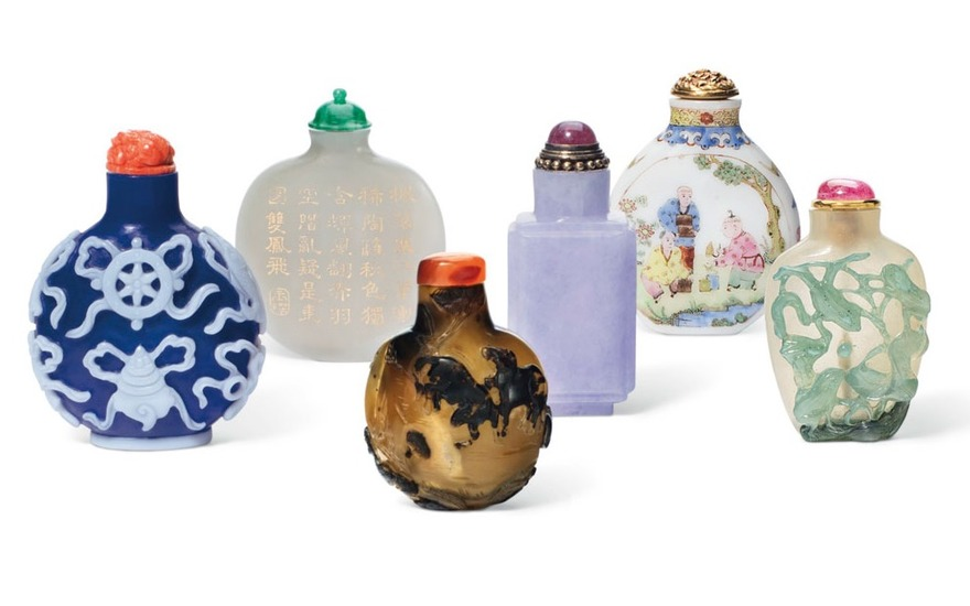 Snuff bottles from The Ruth and Carl Barron Collection of Fine Chinese Snuff Bottles