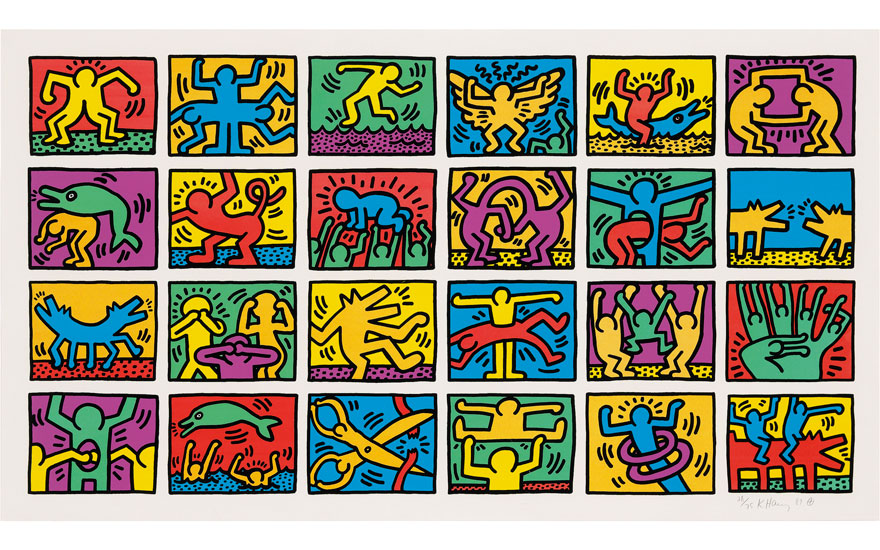 Keith Haring 1958 1990 Retrospect Image 1035 X 1950 Mm