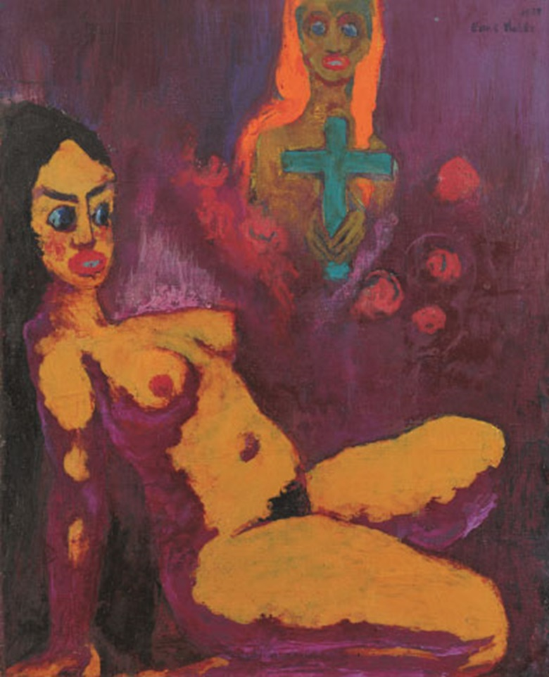 Exhibited at Emil Nolde Colour is Life at the Scottish National Gallery of Modern Art Emil Nolde (1867-1956), Ecstasy (Ekstase), 1929. Oil on canvas, 106.5 x 86.5 cm. © Nolde Stiftung Seebüll