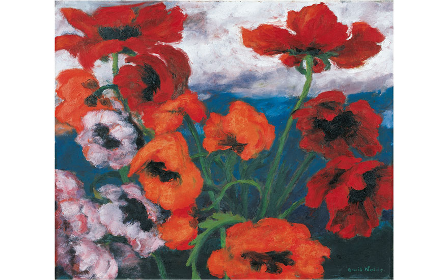 Exhibited at Emil Nolde Colour is Life at the Scottish National Gallery of Modern Art Emil Nolde (1867-1956), Large Poppies (Red, Red, Red) [Grosser Mohn (Rot, Rot, Rot)], 1942. Oil on