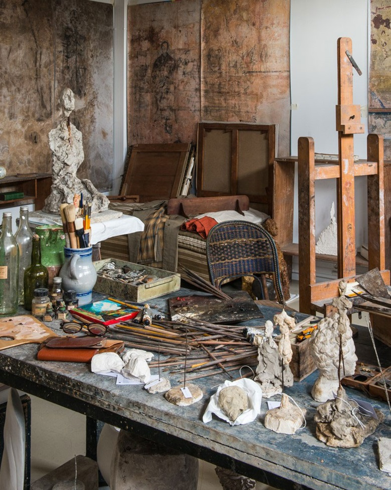 The institute's reconstruction of Giacometti's studio. © The Estate of Alberto Giacometti (Fondation Annette et Alberto Giacometti, Paris and ADAGP, Paris) 2018