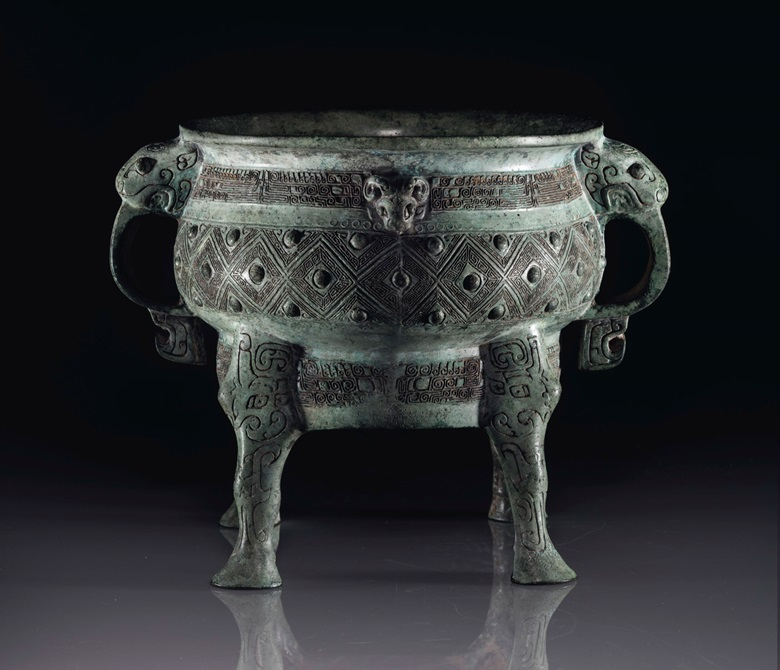 The Zuo Bao Yi Gui. A highly important and extremely rare bronze ritual four-legged food vessel. Early Western Zhou dynasty, 11th-10th century BC. 7⅜ in (18.8 cm) high. Estimate $4-6 million. This lot is offered in Qianlongs Precious Vessel The Zuo Bao Yi Gui on 13 September 2018 at Christie's in New York, as part of Asian Art Week