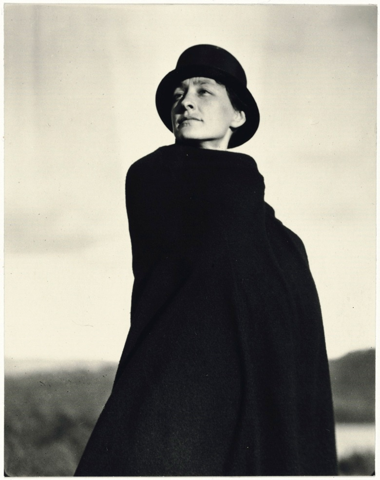 Alfred Stieglitz (1864-1946), Georgia OKeeffe A Portrait, 1920-1922. Palladium print, mounted on original two-ply rag board. Imagesheet 4⅝ x 3⅝ in (11.8 x 9.2 cm); mount 13⅝ x 10½ in (34.5 x 26.6 cm). Estimate $100,000-150,000. This lot is offered in An American Journey The Diann G. and Thomas A. Mann Collection of Photographic Masterworks on 4 and 5 October at Christies in New