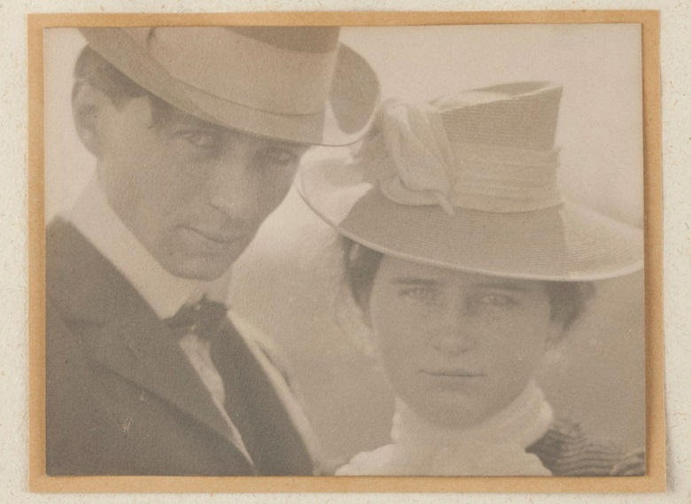 Edward Steichen (1879-1973), Self-Portrait with Sister, Milwaukee, 1900. Platinum print on layered mount. Imagesheet 4 x 5½ in (10.1 x 14 cm). Estimate $80,000-120,000. This lot is offered in An American Journey The Diann G. and Thomas A. Mann Collection of Photographic Masterworks on 4 and 5 October at Christies in New York