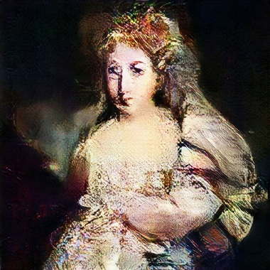 Portrait of La Comtesse de Belamy, 2018, the fictitious wife of Le Comte © Obvious