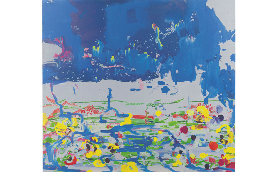 Petra Cortright (b. 1986), p3240473_v_iCENTER, 2013. 35¾ x 40 in (90.8 x 101.6 cm). Estimate                    $18,000-25,000. Offered in Horizon  Post-War and Contemporary Art, 13-23 August,