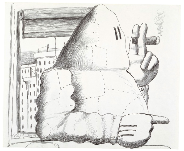 Philip Guston (1913-1980), Window, 1970. Signed and dated 'Philip Guston 70' (lower left). Graphite on paper. 18 x 21 in (45.7 x 53.3 cm). Offered in Masterworks on Paper from the Anderson Collection in the Post-War and Contemporary Art Day Sale in November 2018 at Christies in New York