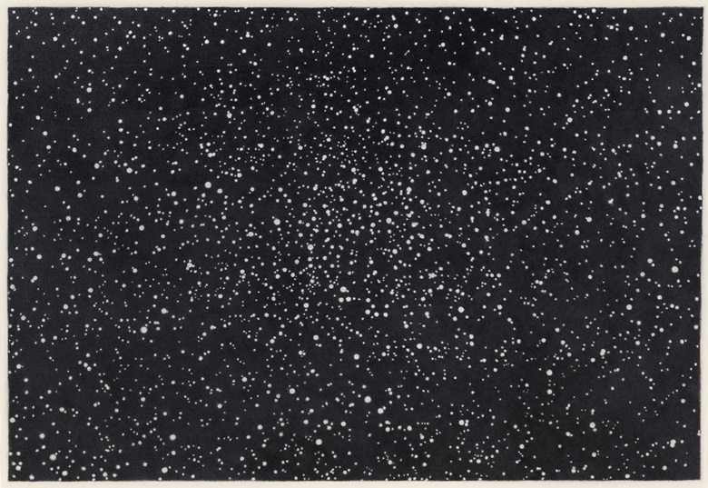 Vija Celmins (b. 1938) Starfield I, 1981-82. Signed and dated 'Vija Celmins 1981-82' (on the reverse). Graphite on paper 19 x 27 in. (48.2 x 68.5 cm.) Offered in Masterworks on Paper from the Anderson Collection in the Post-War and Contemporary Art Day Sale in November 2018 at Christie's in New York