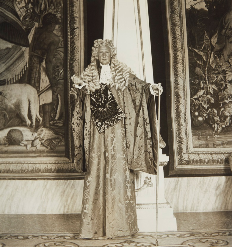 'Charlie' de Beistegui, nephew of Carlos, at his 1951 masked ball in Venice, which has been hailed as one of the parties of the century