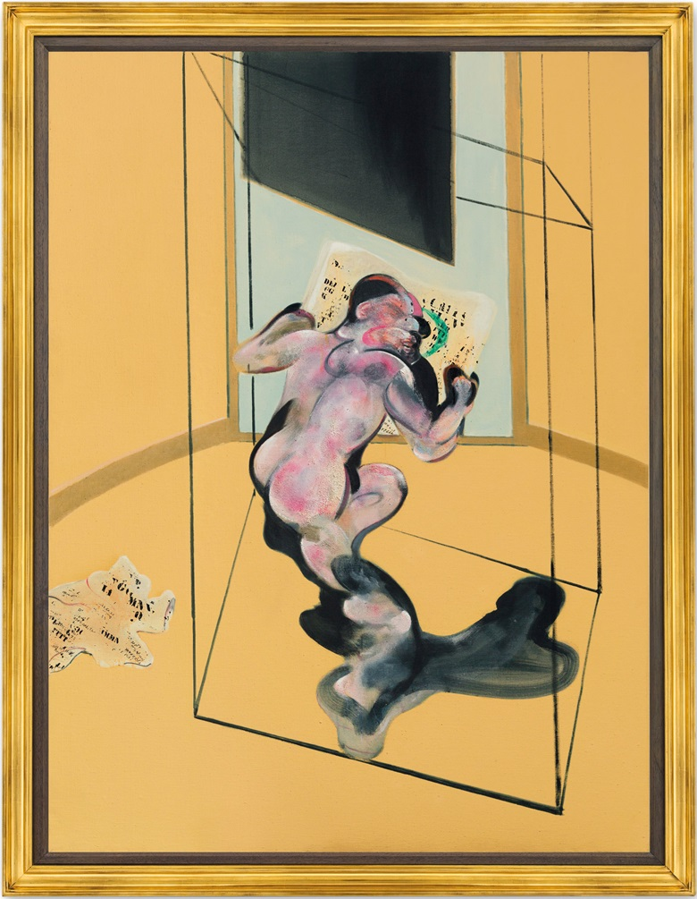Francis Bacon (1909-1992), Figure in Movement, executed in 1972. 77⅞ x 58⅝ in (198 x 148 cm). Estimate £15,000,000-20,000,000. This lot is offered in Post War and Contemporary Art Evening Auction on 4 October 2018 at Christie's in London © The Estate of Francis Bacon. All rights reserved. DACS 2018