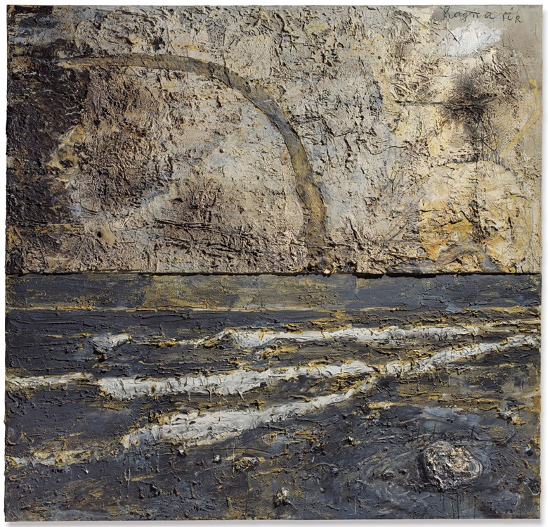 Anselm Kiefer (b. 1945), Midgard, executed in 1983–1985. Mixed media and straw on canvas in two parts. 106⅛ x 110⅞ in (269.4 x 281.5 cm). Estimate £1,200,000-1,800,000. This lot is offered in Post War and Contemporary Art Evening Auction on 4 October 2018 at Christie's in London