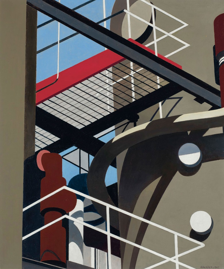 Charles Sheeler (1883-1965), Cat-walk, painted in 1947. Oil on canvas. 24 x 20 in (61 x 50.8 cm). Sold for $1,332,500 on 13 November 2018 at Christie's in New York