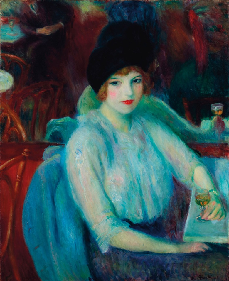 William James Glackens (1870-1938), Cafe Lafayette (Portrait of Kay Laurell), painted in 1914. Oil on canvas. 32 x 26 in (81.3 x 66 cm). Sold for $792,500 on 13 November 2018 at Christie's in New York