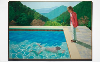 David Hockney's Portrait of an auction at Christies