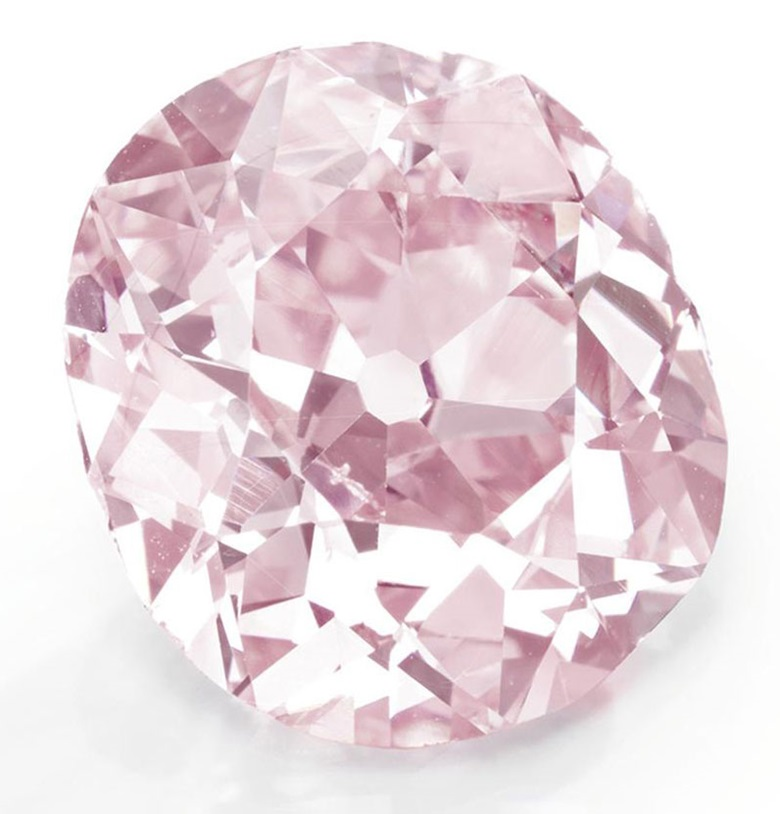 The Clark Pink. A Fancy Vivid, cushion-cut purplish-pink diamond, 9.00 carats. Sold for $15,762,500 on 17 April 2012 at Christie's in New York
