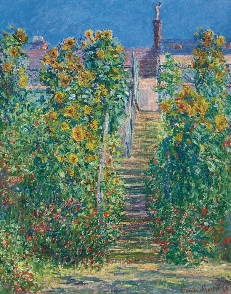 Claude Monet (1840-1926), L'Escalier à Vétheuil, 1881. Oil on canvas. 32 x 25½ in (81.4 x 64.9 cm). Estimate $12,000,000-18,000,000. Offered on 11 November in the Impressionist and Modern Art Evening Sale Including Property from The Collection of Herbert and Adele Klapper at Christie's in New York