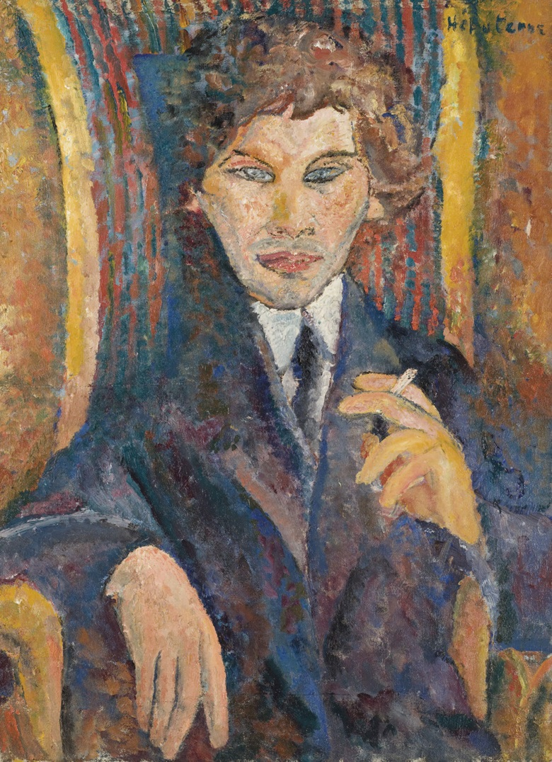 Jeanne Hébuterne (1898-1920), Portrait of Chaïm Soutine. 73.4 x 54.5 cm (28⅞ x 21½  in). Sold for €73,000 on 2 December 2008 at Christie's in Paris