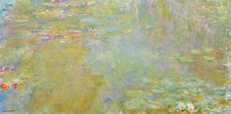 Property from an Important Private Collection. Claude Monet (1840-1926), Le bassin aux nymphéas, 1917-19. Oil on canvas. 39¾ x 79 in (100.7 x 200.8 cm). Estimate $30,000,000-50,000,000. Offered in the Impressionist & Modern Art Evening Sale on 11 November at Christie's in New York