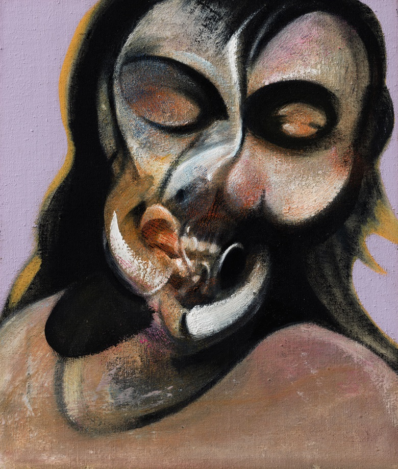 Francis Bacon, Study of Henrietta Moraes Laughing, 1969. Oil on canvas. 14 x 12 in. Estimate $14,000,000-18,000,000. Offered in the Post-War and Contemporary Art Evening Sale at Christie's in New York on 15 November © The Estate of Francis Bacon. All rights reserved  DACS, London  ARS, NY 2018