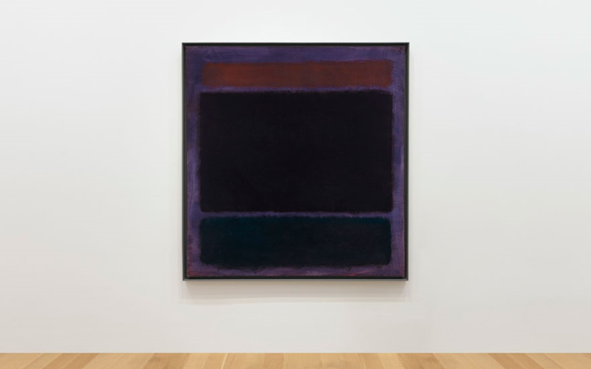 <em>Untitled (Rust, Blacks on Plum)</em> by Mark Rothko
