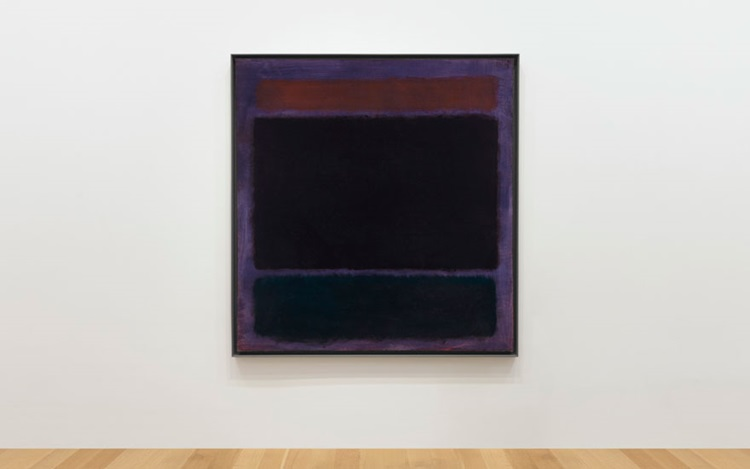 Untitled (Rust, Blacks on Plum auction at Christies