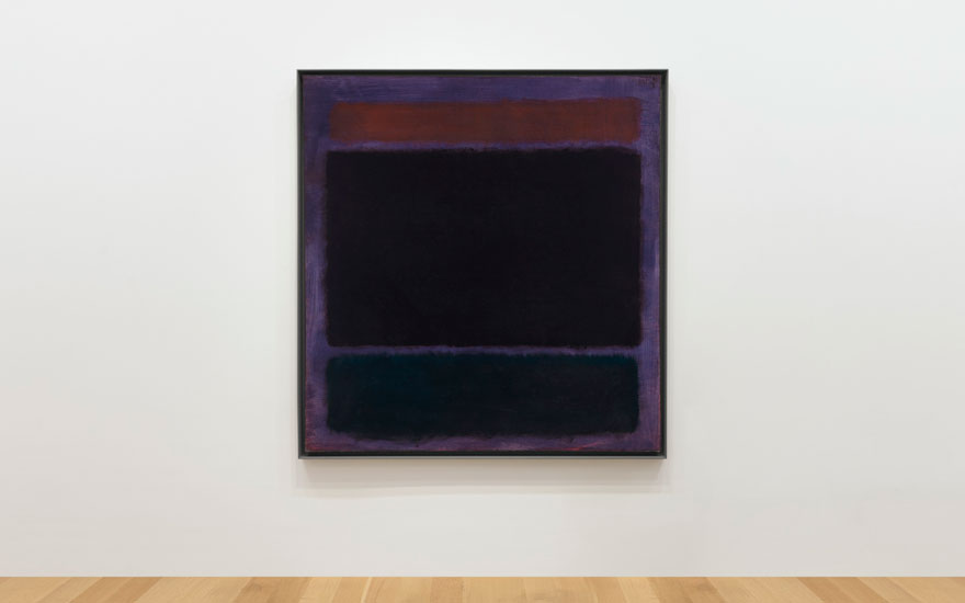 Untitled (Rust, Blacks on Plum