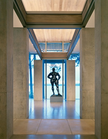 A different view of the Gaston Lachaise sculpture, which is flanked by two small works by Georgia OKeeffe. Photograph by Paul Warchol