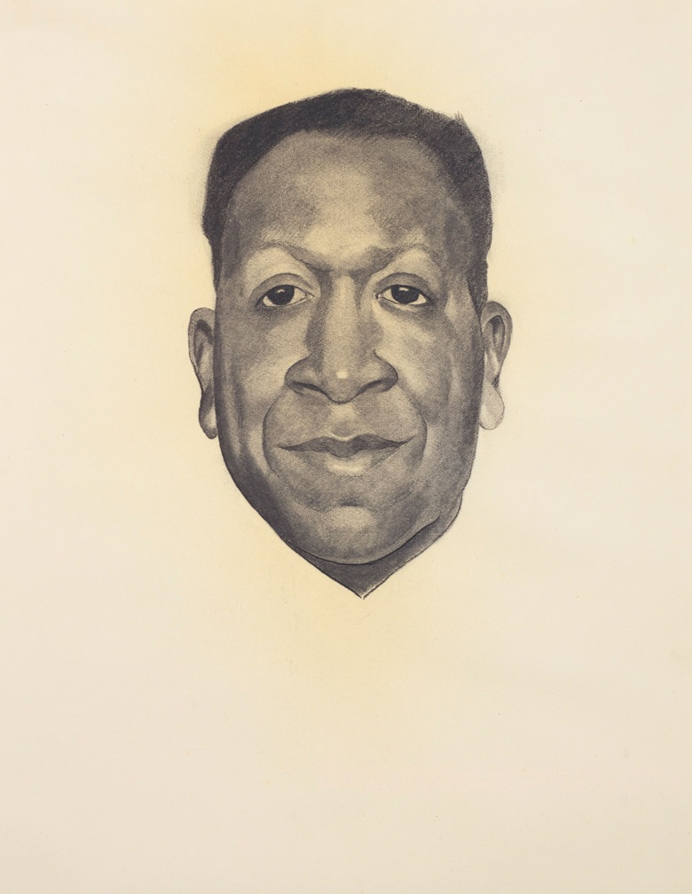 Georgia O'Keeffe (1887-1986), Beauford Delaney, 1943. Charcoal on paper. 24 34 x 18 12 in (62.9 x 47 cm). Estimate $200,000–300,000. Offered in An American Place The Barney A. Ebsworth Collection Evening Sale on 13 November 2018 at Christie's in New York