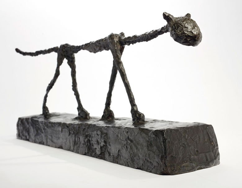 The Lambert Cat Property from the Baroness Johanna Lambert Collection. Alberto Giacometti, Le Chat, conceived in 1951 and cast in 1955. Bronze with dark brown patina. 32⅛ in (81.5 cm). Estimate $14,000,000-18,000,000. Offered in the Impressionist & Modern Art Evening Sale on 11 November at Christies in New York © 2018 Alberto Giacometti Estate  Licensed by VAGA and ARS, New York