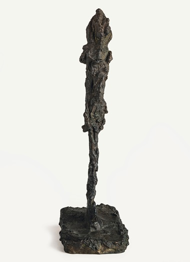 Alberto Giacometti (1901-1966), Figurine, conceived circa 1956; this bronze version cast in 1981. Bronze with dark brown patina. Height 9¼ in (23.5 cm). Estimate $400,000-600,000. Offered in the Impressionist & Modern Art Day Sale on 12 November at Christie's in New York © 2018 Alberto Giacometti Estate  Licensed by VAGA and ARS, New York