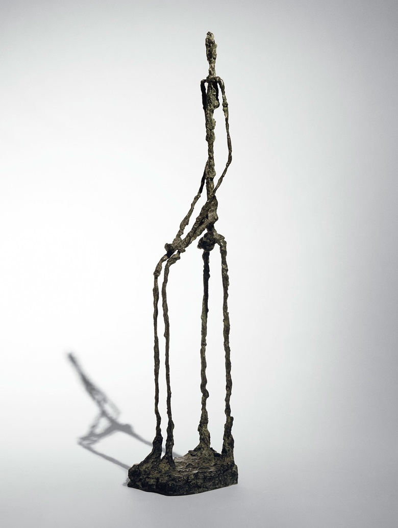 Alberto Giacometti, Femme assise, conceived in 1949-50, cast in 1957. Bronze with brown green patina. Estimate $14,000,000-18,000,000. Offered in the Impressionist & Modern Art Evening Sale on 11 November at Christie's in New York © 2018 Alberto Giacometti Estate  Licensed by VAGA and ARS, New York