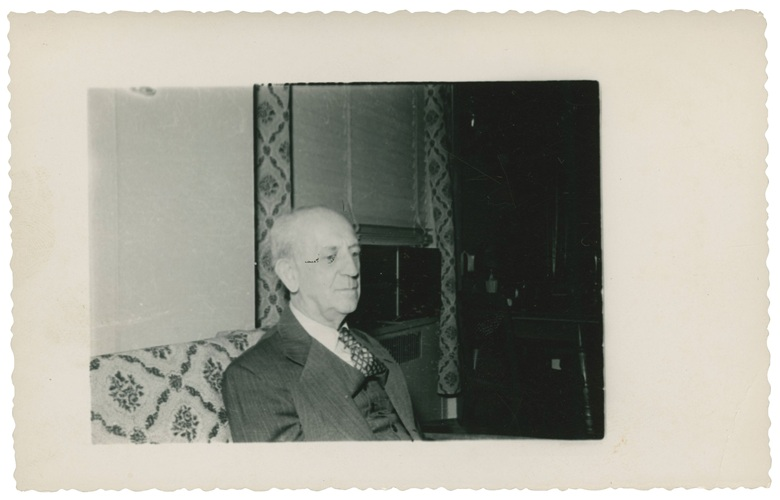 The famous letters recipient Eric Gutkind, the author of Choose Life the Biblical Call to Revolt (1953). This photograph is included in the lot
