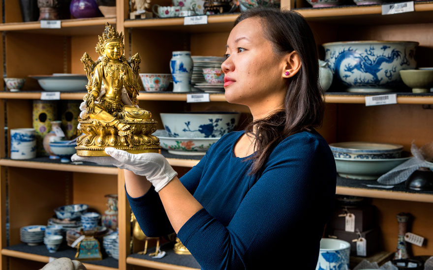 5 minutes with… A gilt-bronze Bodhisattva containing hidden treasures