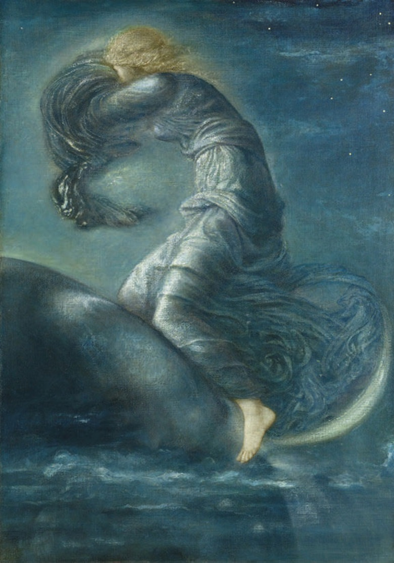 Sir Edward Coley Burne-Jones (1833-1898), Luna, circa 1872-1875. 101 x 71 cm (39¾ x 28 in). Sold for €1,095,400 on 23-25 February 2009 at Christie's in Paris