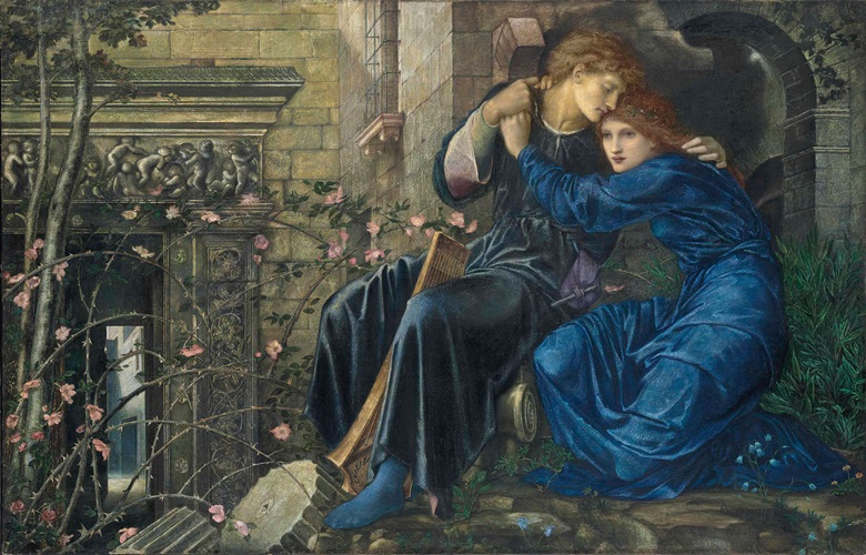 Sir Edward Coley Burne-Jones (1833-1898), Love among the Ruins. 38 x 60 in (96.5 x 152.4 cm). Sold for £14,845,875 on 11 July 2013 at Christie's in London
