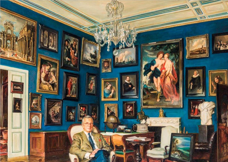 An 'imagined' illustration of Eric Albada Jelgersma (1939-2018) surrounded by his collection