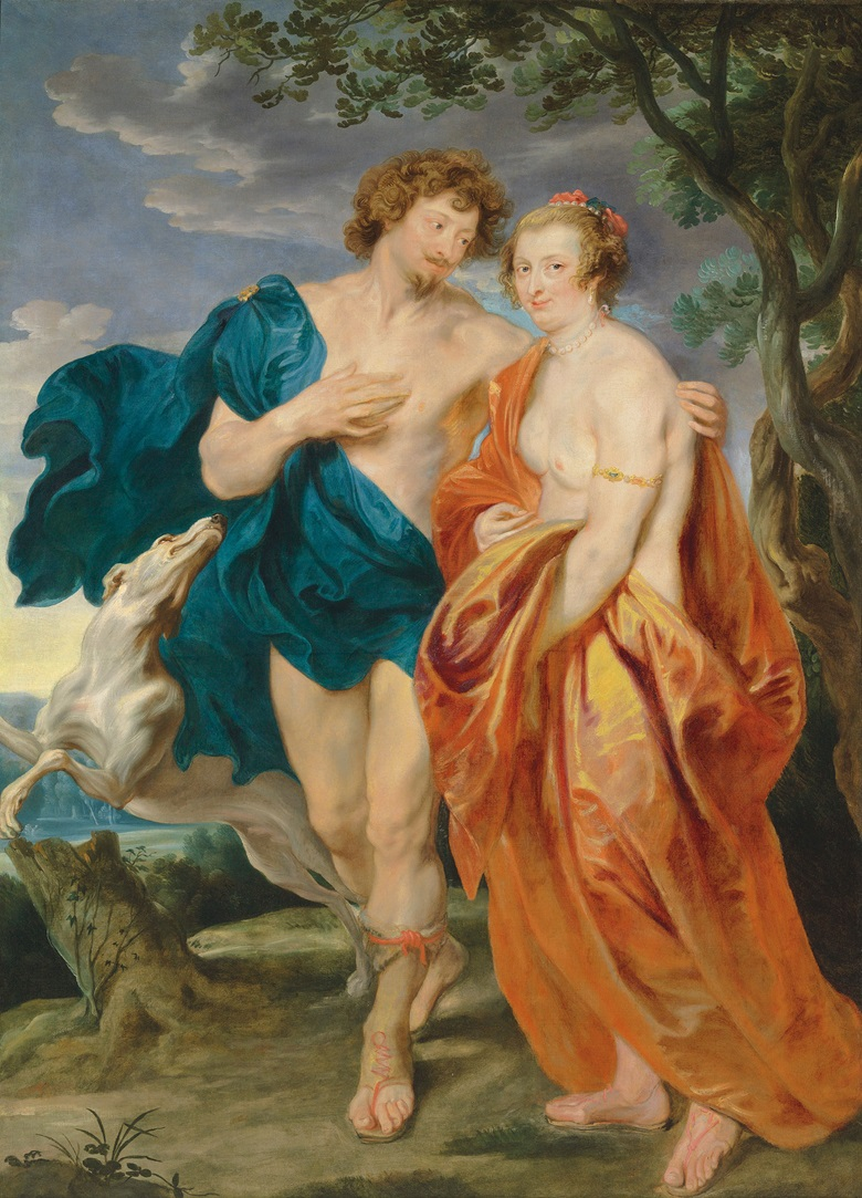 Sir Anthony van Dyck (1599-1641), Venus and Adonis. Oil on canvas. 87¾ x 64⅛ in (222.9 x 163 cm).