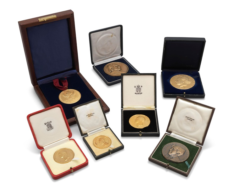 Stephen Hawking's medals and awards. 1975-1999. Estimate £10,000-15,000. This lot is offered in  On the Shoulders of Giants Newton, Darwin, Einstein, Hawking, 31 October to 8 November 2018, Online