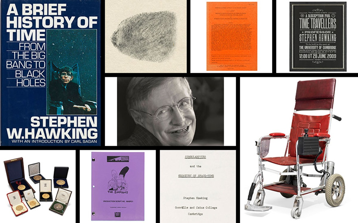 The life and time travel of Stephen Hawking in 10 extraordinary objects