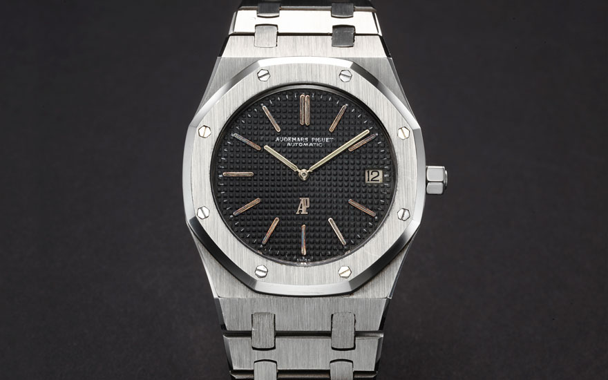 Audemars Piguet Royal Oak A-series ref. 5402ST, circa 1972. Accompanied by Audemars Piguet Extract from the Archives confirming the production of the present watch on 8 November 1972 and specifying a