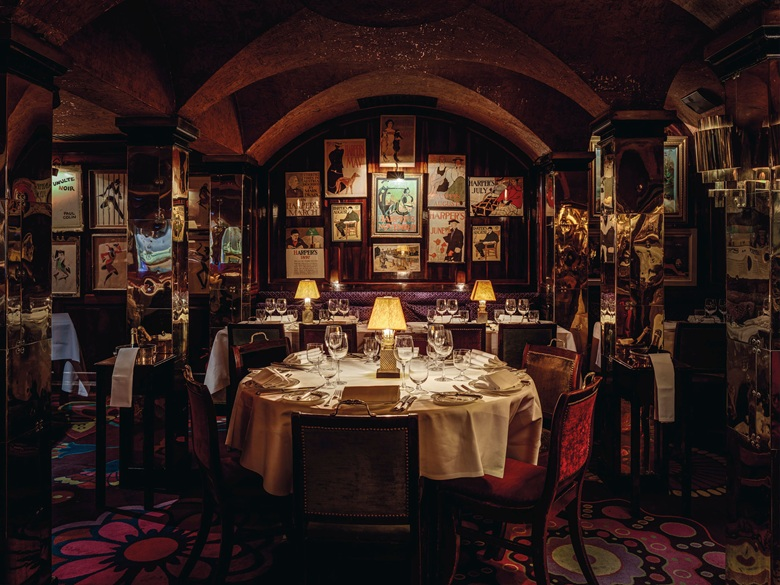 The interior of Annabel's, which opened in 1963 in the basement of No. 44 Berkeley Square. Photo Christian Voigt