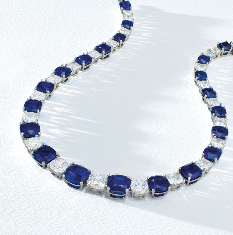 641d8cf525cbb The Peacock Necklace with 21 Kashmir sapphires | Christie's