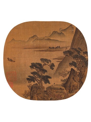 Xu Daoning, Homeward Bound from Various Artists (10th-13th century), Fan Leaves of the Song Dynasty. A set of 18 round fan leaves, mounted and framed, inkink and colour on silk. Estimate HK$60,000,000-100,000,000. Offered in Fine Chinese Classical Paintings and Calligraphy on 27 November at Christie's in Hong Kong