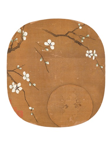 Anonymous, Plum Flowers and Reflection of the Moon from Various Artists (10th-13th century), Fan Leaves of the Song Dynasty. A set of 18 round fan leaves, mounted and framed, inkink and colour on silk. Estimate HK$60,000,000-100,000,000. Offered in Fine Chinese Classical Paintings and Calligraphy on 27 November at Christie's in Hong Kong