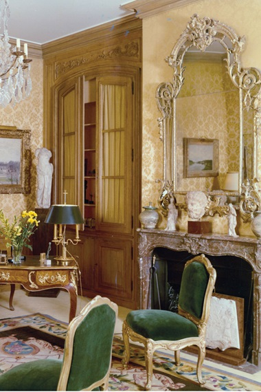 An interior from the Staffords' Paris apartment