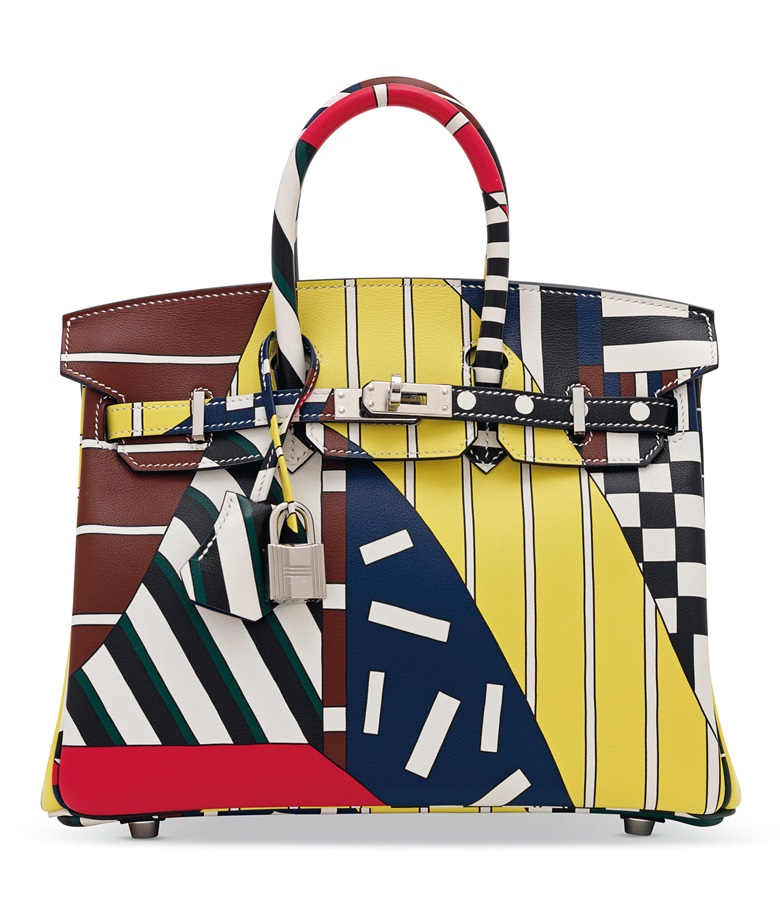 A limited edition multicolour swift leather One Two Three   Away We Go  Birkin 25 with 4ff59875963f9