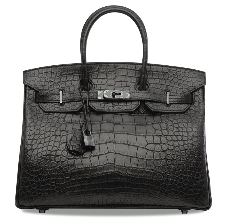 45c917bc0e A rare, Matte Black niloticus crocodile So Black Birkin 35 with black  hardware, Hermès